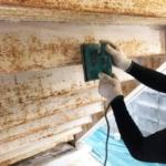 建築塗装工事のケレン作業